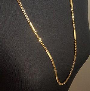 Monet Long Chain Gold Necklace